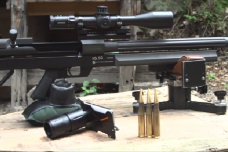 Testing G-Line Smart Shoot Adapter with .50 caliber rifle